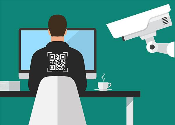 Illustration of surveillance at work