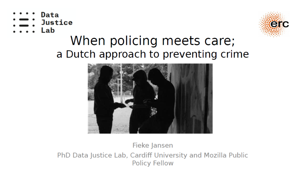 When policing meets care; a Dutch approach to preventing crime