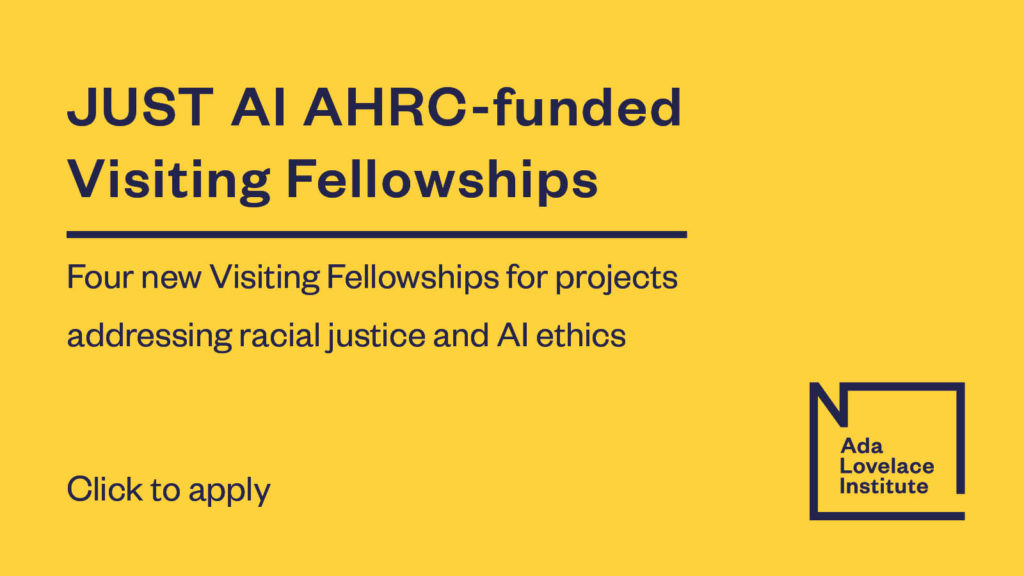 JUST AI AHRC-funded Visiting Fellowships