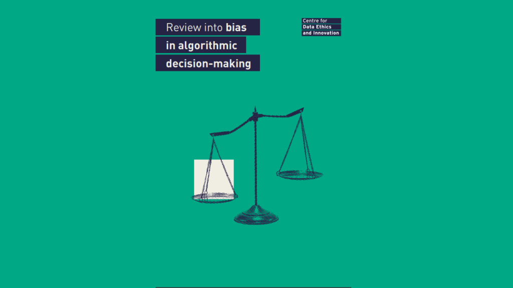 Accountability for algorithms: a response to the CDEI review into bias in algorithmic decision-making